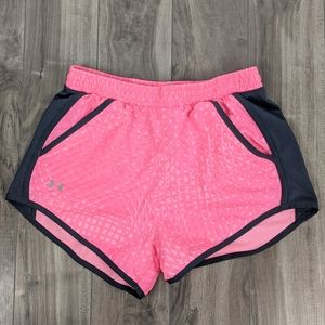 Under Armour Youth Large Loose Fit Pink Shorts